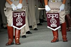 Texas A & M University Marching Band.