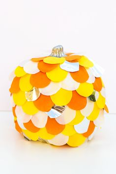 Scalloped Tissue Paper Pumpkin