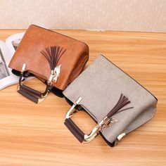 Women PU Leather Tote Bag Retro Crossbody Bag