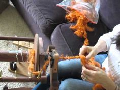 How to hand spin a core spun and coiled art yarn - PART ONE