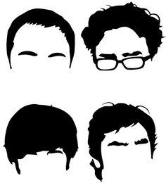 Big Bang Theory Minimalist Faces