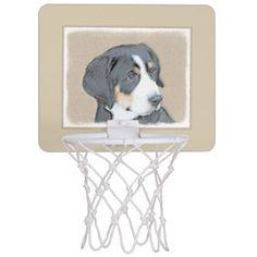 #Bernese Mountain Dog Puppy Mini Basketball Backboard - #bernese #mountain #dog #puppy #dog #dogs #pet #pets #cute #bernesemountaindog