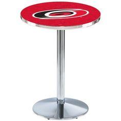 "Carolina Hurricanes 36"" Round Foot Chrome Pub Table - $449.99"