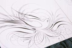 caligraphy birds - Google Search