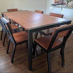 Welded Furniture, Iron Furniture, Steel Furniture, Home Decor Furniture, Furniture Design, Steel Dining Chairs, Dining Table Chairs, Metal Chairs, Steel Bed Design