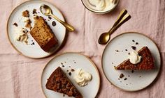 Thomasina Miers' fig, dark chocolate and brandy cake.