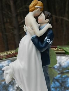 e18439d1a Items similar to Military Air Force Airman Wedding Cake Topper sexy pose  Bride uniform Kiss Lift on Etsy