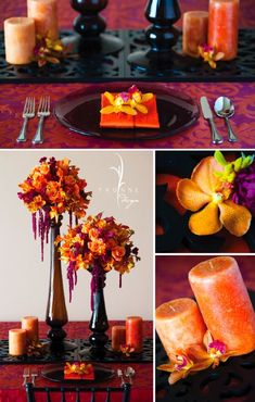gorgeous colors together october wedding colors schemes / fall wedding ideas colors october / fall wedding ideas november / fall winter wedding / fall colors for wedding Fall Wedding Colors, Autumn Wedding, Wedding Color Schemes, Purple Wedding, Wedding Flowers, Wedding Centerpieces, Wedding Decorations, Stage Decorations, Table Centerpieces