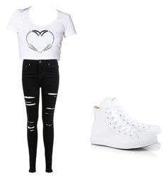 first day of school by mjblackstock on Polyvore featuring polyvore, fashion, style, Miss Selfridge and Converse