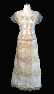 Qualitative Barong Tagalog, Filipiniana Dresses - Barongs R us Formal Wedding Attire, Formal Gowns, Formal Wear, Wedding Dresses, Mob Dresses, Ball Dresses, Modern Filipiniana Dress, Barong Tagalog, Filipino Fashion