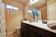 The Upstairs Bathroom Saratoga Homes, Upstairs Bathrooms, Model Homes, Siena, Decorating, Mirror, Interior, Furniture, Home Decor