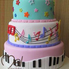 Music Theme Birthday, Music Themed Parties, Music Party, 22nd Birthday Cakes, Birthday Cake Girls, 2nd Birthday Parties, Bolo Musical, Music Note Cake, Music Cakes