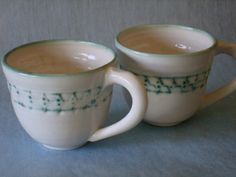 White Porcelain Tea or Coffee Cups by mudoftheages on Etsy, $35.00