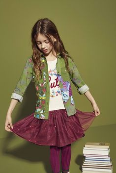 Are you searching Kids clothes? Save ideas and see more about dresses girl, rompers and jumpsuits! Check this Desigual Girls' long-sleeved dress with three-piece effect and tulle skirt and discover Desigual Kids collection!