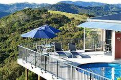 Waimanu Lodge Northland, New Zealand. Corner Deck, Harbor View, New Zealand, Patio, Studio, Luxury, Outdoor Decor, Home Decor, Decoration Home