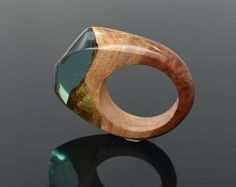 Harz-Holz Ring einzigartiger Ring Ring aus Holz Harz und