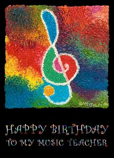 Happy birthday for music teacher Greeting Card