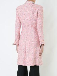 Chanel Vintage long sleeve tweed coat