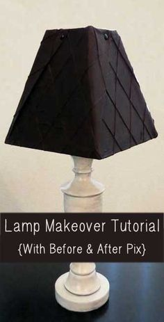 Lamp Redo – DIY Antique Finish & Recovered Lampshade