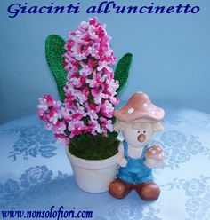 Giacinti all'uncinetto - www.nonsolofiori.com