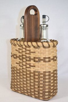Olive Oil or Oil and Vinegar Basket by Bright Expectations.