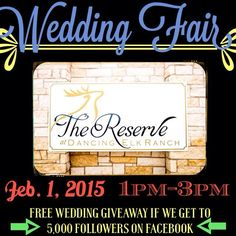 FREE WEDDING at our WEDDING FAIR