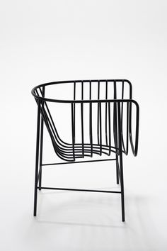 Black wire frame chair