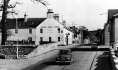 Tour Scotland Photographs: Old Photograph High Street Fochabers Scotland