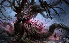 Explore the Bestiary collection - the favourite images chosen by on DeviantArt. Tree Monster, Plant Monster, Monster Art, Dark Fantasy Art, Fantasy Artwork, Cthulhu, Fantasy Monster, Creepy Art, Creature Concept