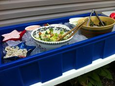 "Thank you ""Happy House Wife"" for this.  Keep food cool at a BBQ!  Under the bed storage box filled with ice!"