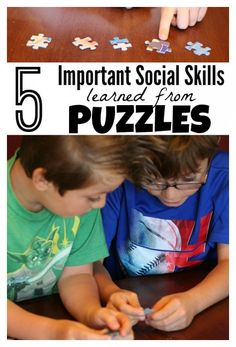 5 Social Skills Learned from puzzles