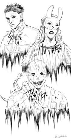 Horror Drawing, Horror Art, Horror Movie Characters, Horror Movies, Creepy, Scary, Hollywood Undead, Dark Art Drawings, Anime