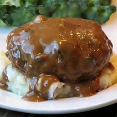 Crockpot Salisbury Steak: can substitute cream of mushroom for cream of chicken
