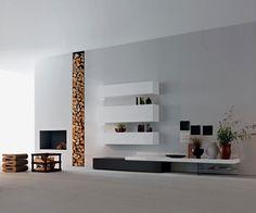 The modular Modern wall unit by Piero Lessoni | Modular storage ...