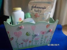 Kit Bebe, Ideas Para, Toy Chest, Decoupage, Lunch Box, Baby Shower, Hand Painted, Storage, Apc