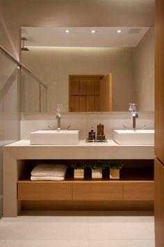 Casa Cor Open Bathroom, Ensuite Bathrooms, Wc Design, Bathroom Design Luxury, Bath Decor, Modern House Design, Bathroom Inspiration, Home, Ideas