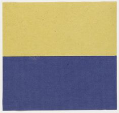 Ellsworth Kelly. Yellow and Blue. 1951