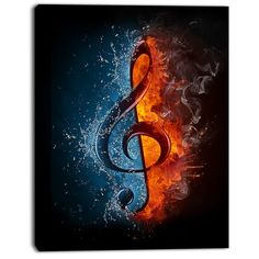 treble clef in fire and water. illustration of the treble clef enveloped in elements isolated on black background. high resolution treble clef in fire and water image for a musical concert poster. Music Mix, Sound Of Music, Music Is Life, Music Drawings, Music Artwork, Art Of Music, Music Notes Art, Musik Wallpaper, Wallpaper Desktop