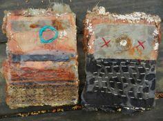 Elizabeth Bunsen  fiber art #stitching #dye