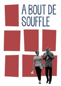 'À bout de souffle' Poster 1960 Jean-Luc Godard