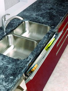 Stainless Steel Sink Front Tip-Out Tray