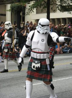 Stormtroopers in kilts. Your argument is invalid. geek, storm trooper, kilt, nerd jokes, scottish highlands, nerdi, starwar, star wars, storms