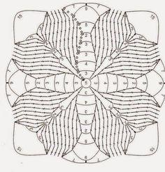 How to Crochet a Solid Granny Square Crochet Tote, Crochet Blocks, Crochet Squares, Thread Crochet, Crochet Granny, Crochet Motif Patterns, Crochet Diagram, Crochet Chart, Crochet Designs