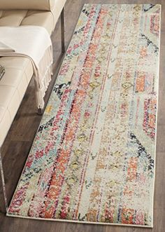 Safavieh Monaco Collection MNC222F Modern Bohemian Erased...