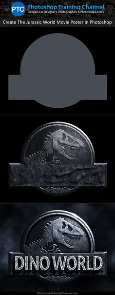 Photoshop tutorial showing you how to recreate the Jurassic World teaser movie poster using only Photoshop. No images will be used to create the textures in this project. The entire poster will be created using nothing more than vector shapes, pattern fills, filters, layer styles, and adjustment layers.