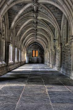 Princeton corridor...collegiate Gothic