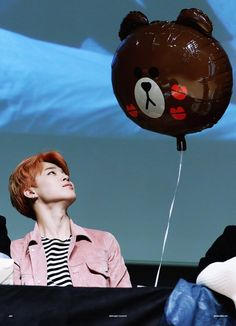 BTS JM | i need a folder of jimin and his balloons. They are adorable.