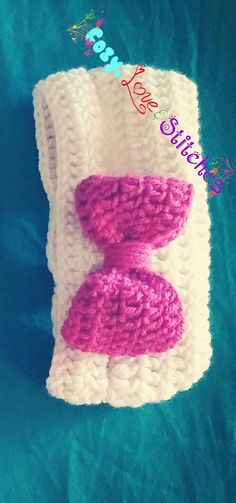 Crochet bow ear warmers..