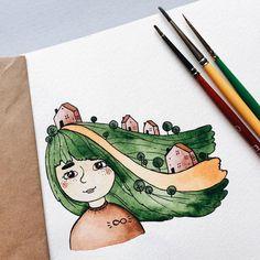 ✨  . #samoshkina_art #illustration #illustrations #dailyart #art #artist #art_we_inspire #art_spotlight #art_public #inspire #instaart #wearevsco #vscoart #vscocam #watercolors #watercolorart #aquarelle #cute #toppaint #topdraw #topcreator #globalart #topart #painteveryday #detail #soulart #artcitchen #eatsleepdraw #artbook