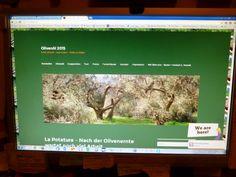 Auf dieser Seite dreht sich alles nur um Oliven und Olivenöl - extra vergine-